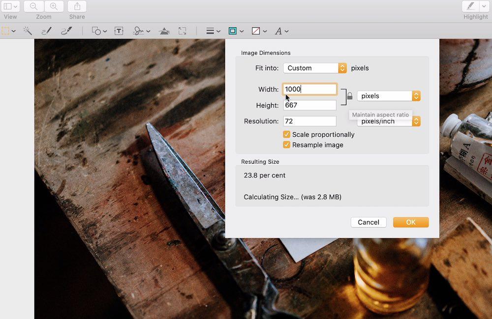 mac preview app image editing