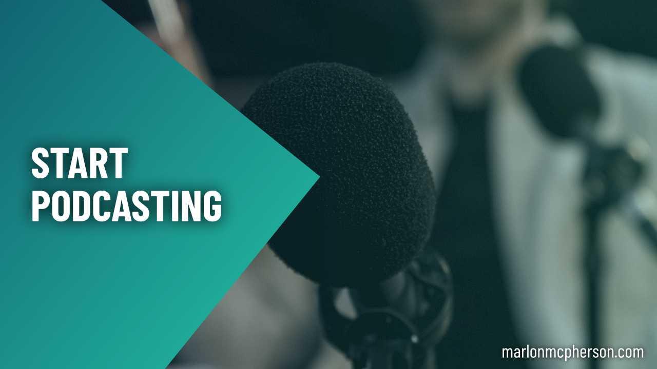 Start podcasting graphic
