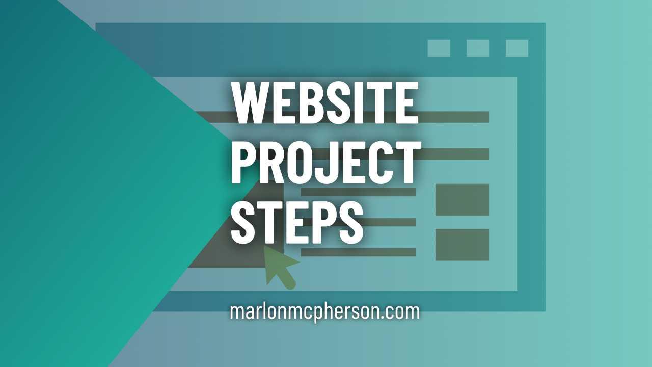 website project steps blog image