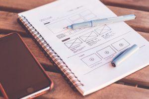 website design sketch