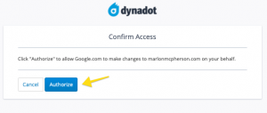 authorize google search console