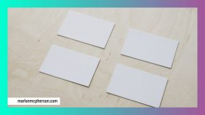 blank sheets of paper on a table