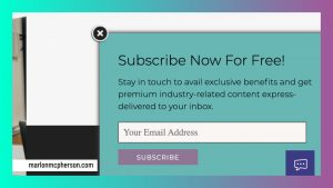 email subscription opt in form