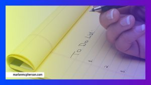 Things to do list image with hand writing on a notepad
